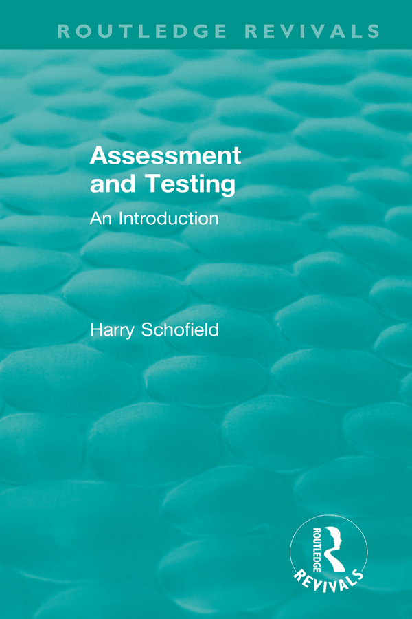 Assessment and Testing: An Introduction book cover