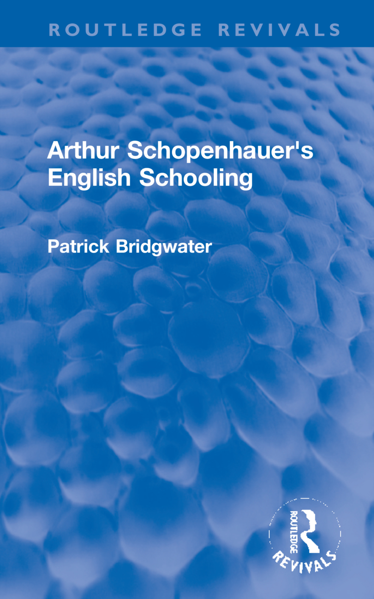 Arthur Schopenhauer's English Schooling book cover