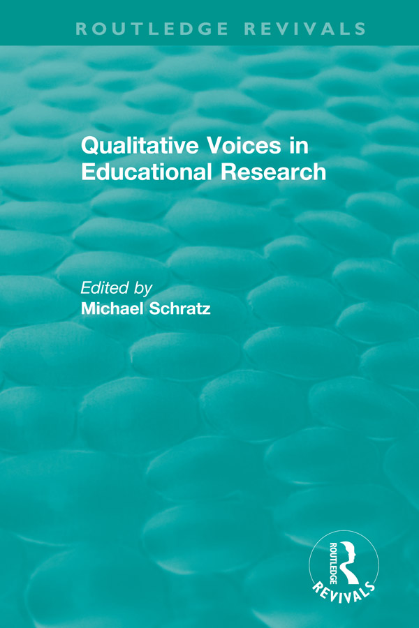 Qualitative Voices in Educational Research book cover