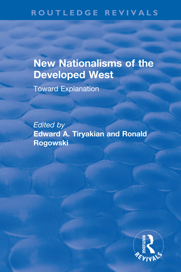New Nationalisms of the Developed West: Toward Explanation book cover