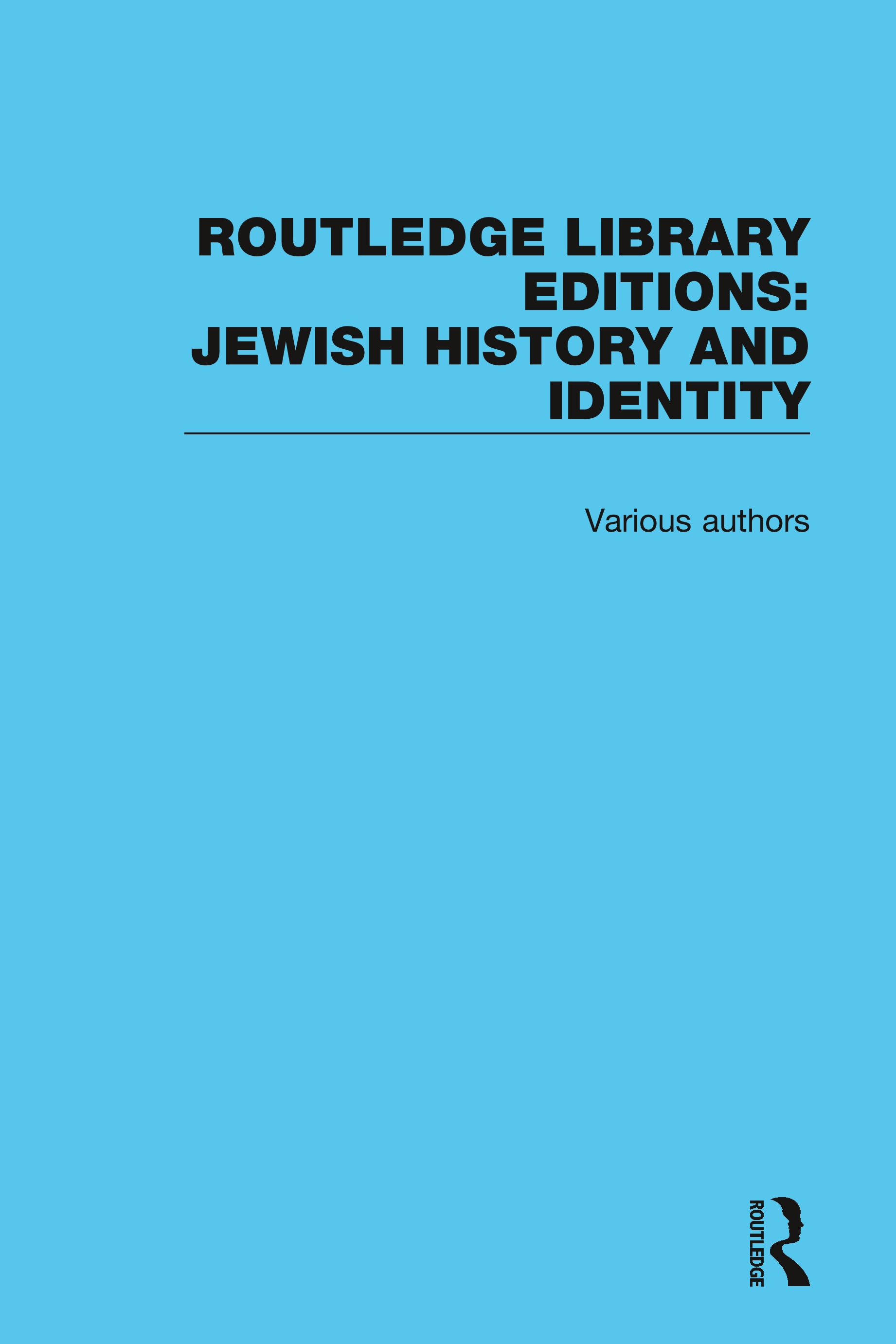 Routledge Library Editions: Jewish History: 1st Edition (Hardback) book cover