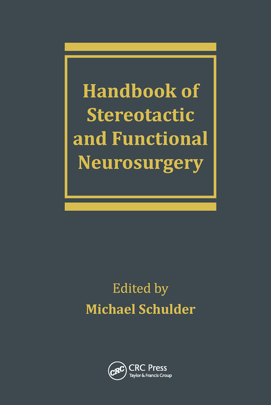 Handbook of Stereotactic and Functional Neurosurgery book cover