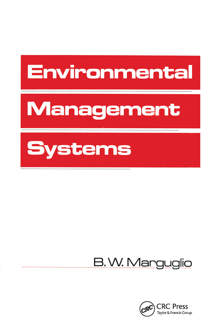Environmental Management Systems: 1st Edition (Paperback) book cover