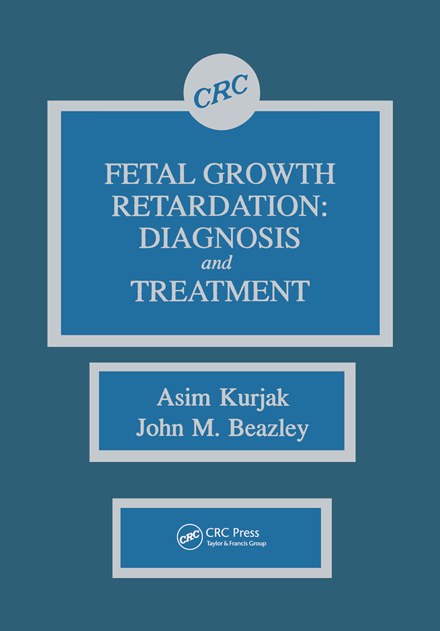 Fetal Growth Retardation: Diagnosis and Treatment, 1st Edition (Paperback) book cover