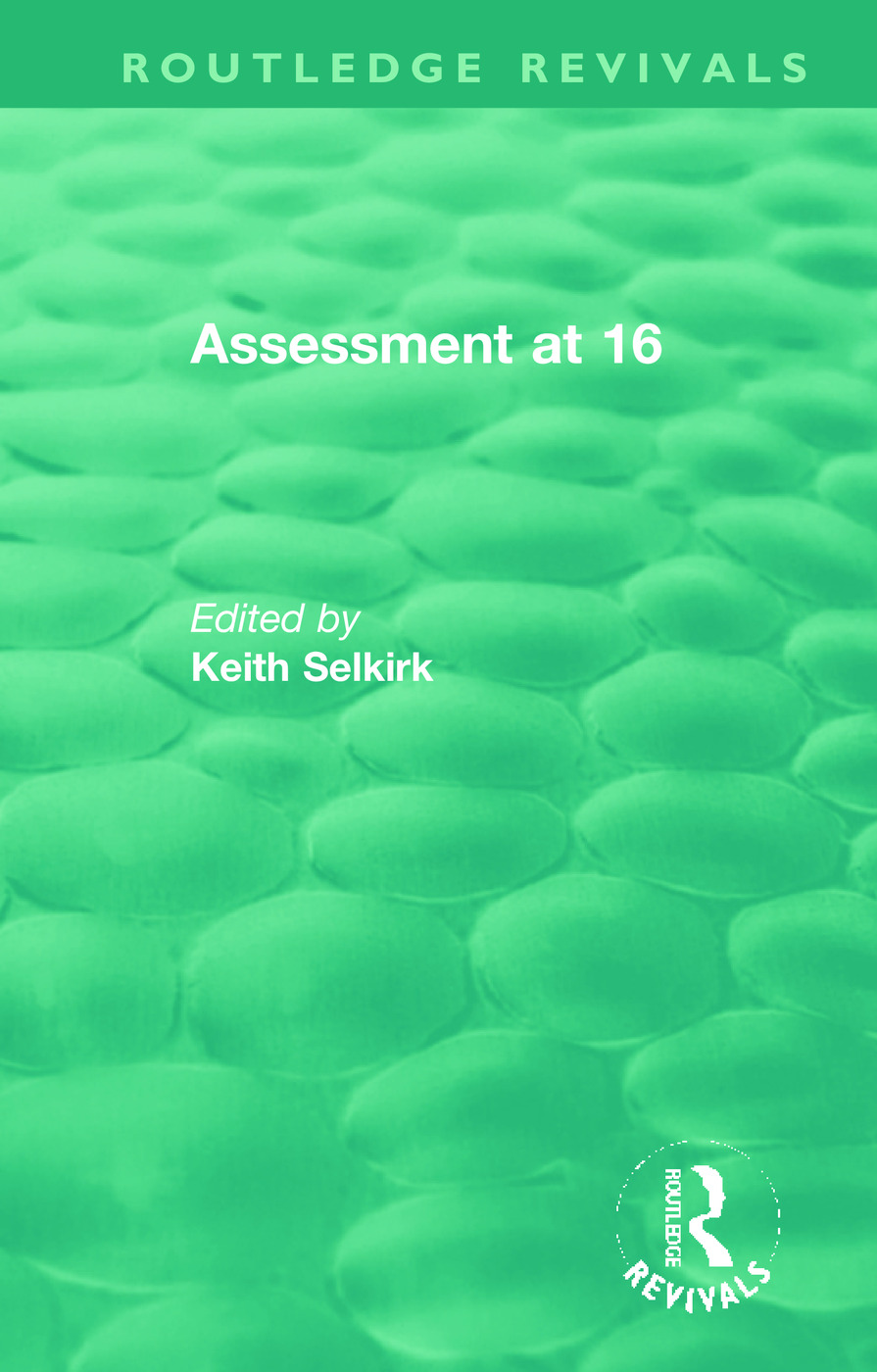 Assessment at 16: 1st Edition (Hardback) book cover