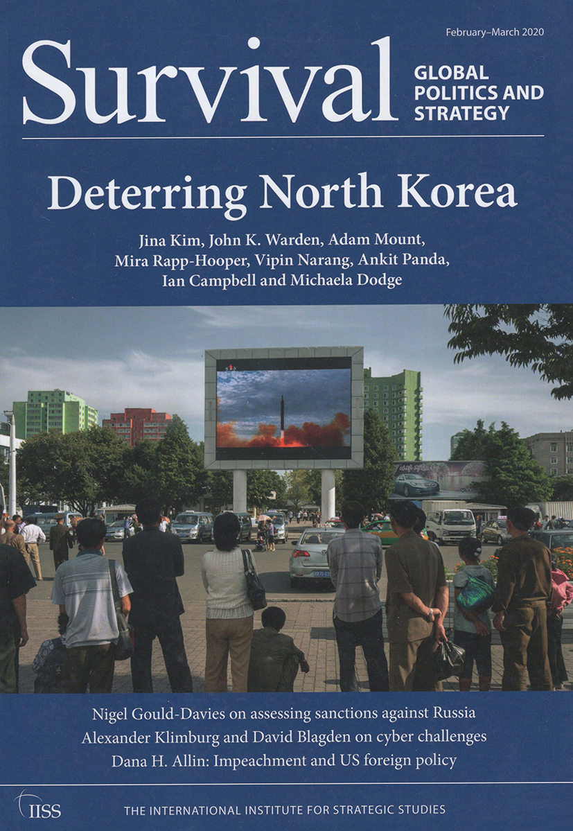 Survival: Global Politics and Strategy (February-March 2020): Deterring North Korea book cover