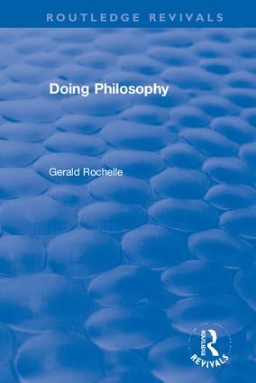 Doing Philosophy: 1st Edition (Hardback) book cover