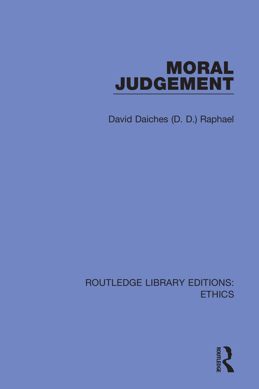 Moral Judgement: 1st Edition (Hardback) book cover