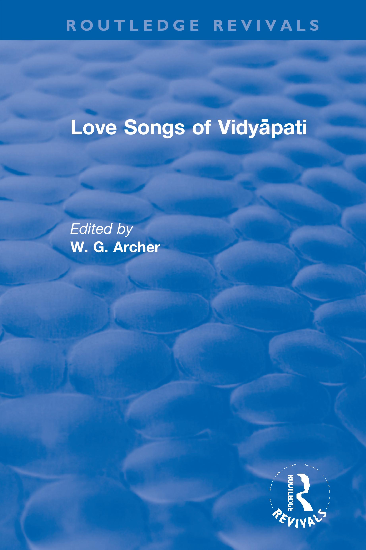 Love Songs of Vidyāpati
