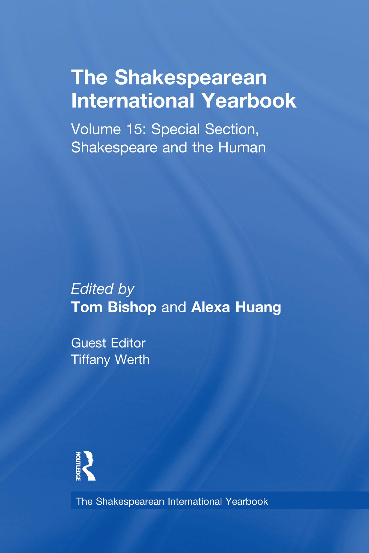 The Shakespearean International Yearbook