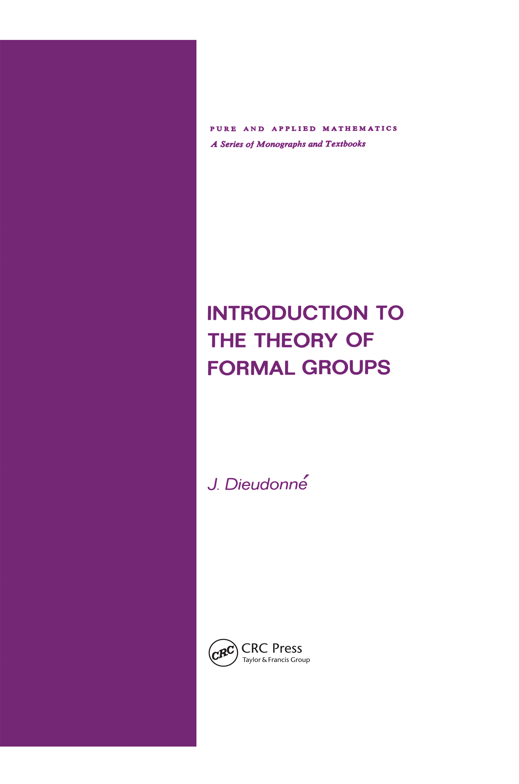 Introduction to the Theory of Formal Groups