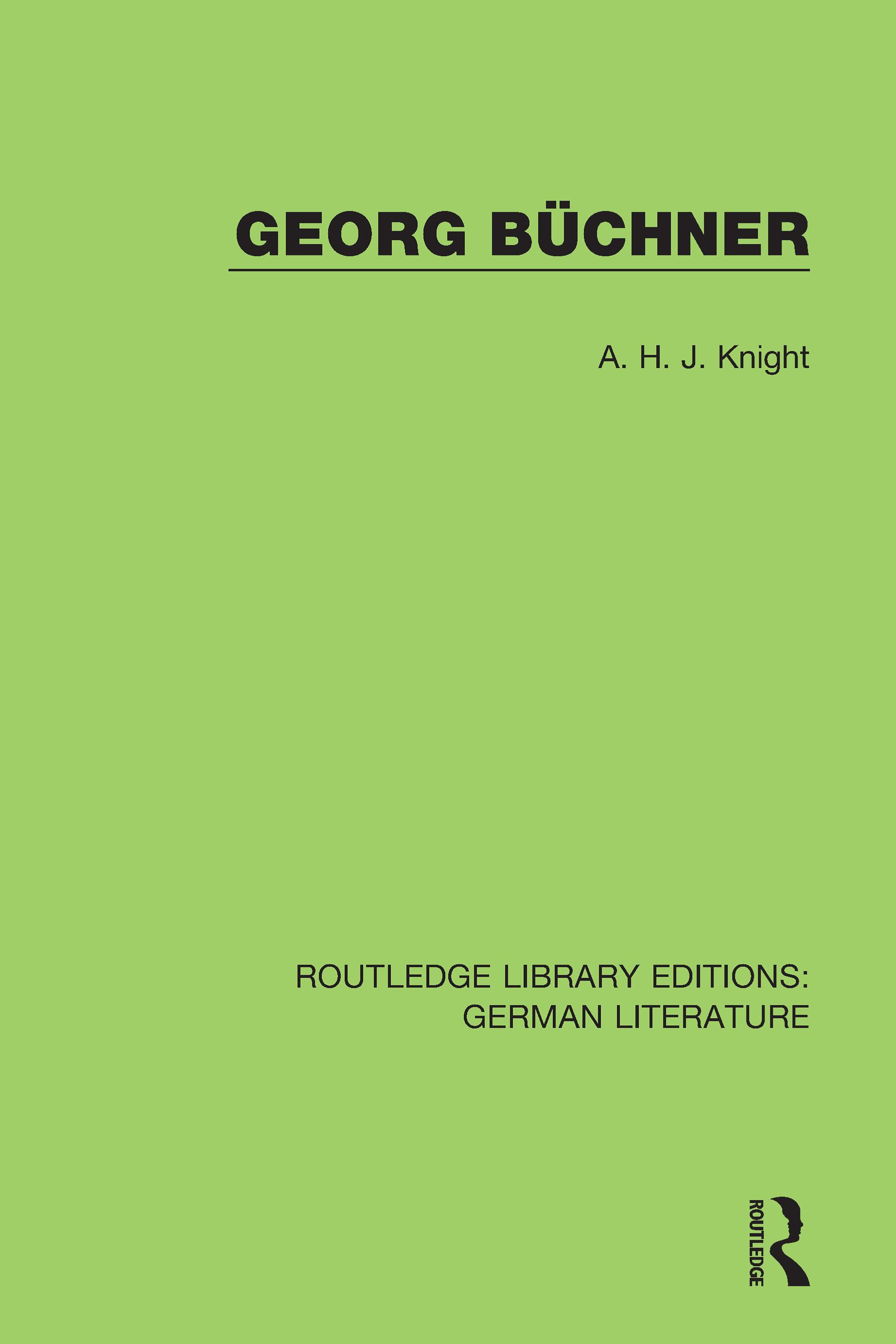 Georg Büchner: 1st Edition (Hardback) book cover