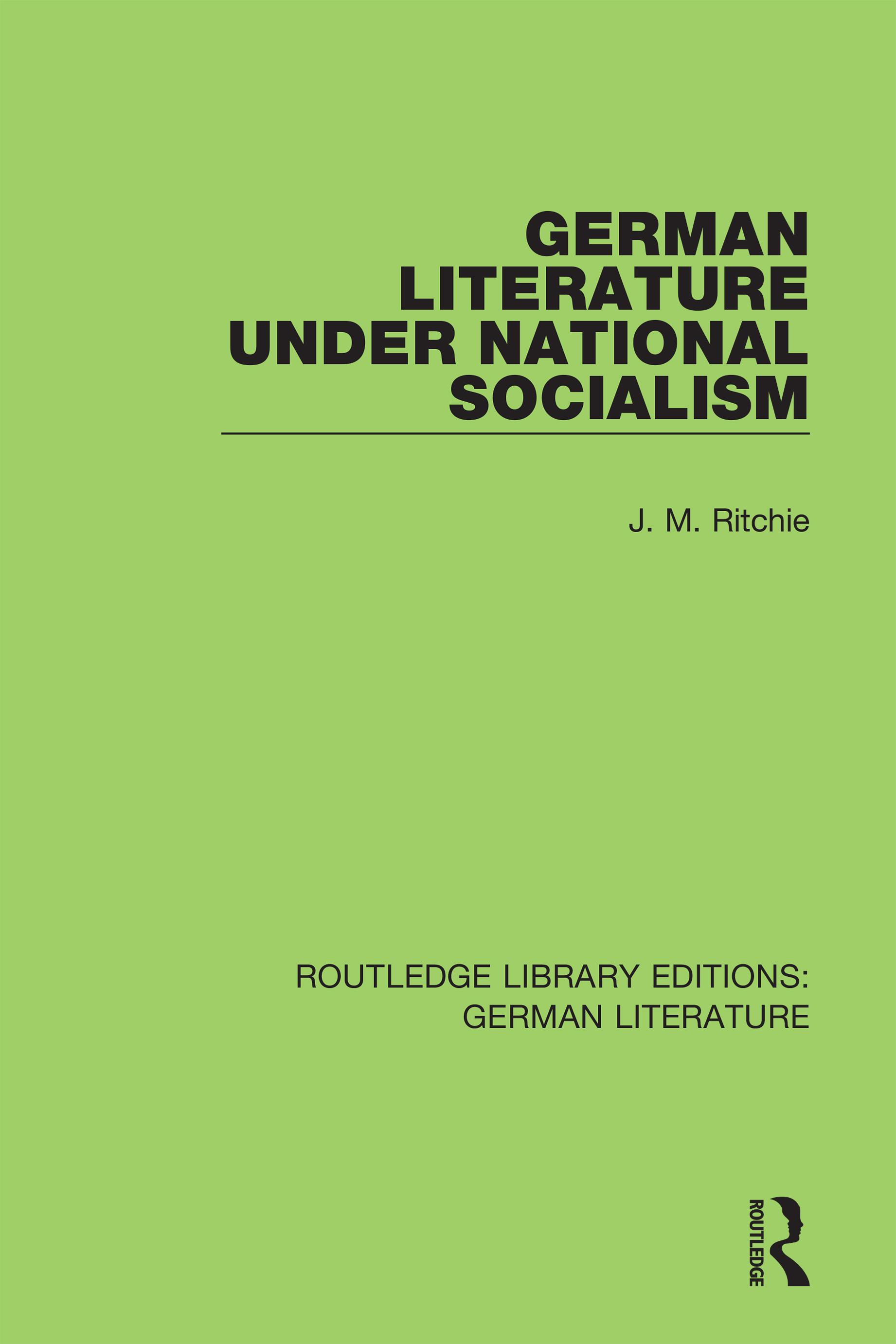 German Literature under National Socialism book cover