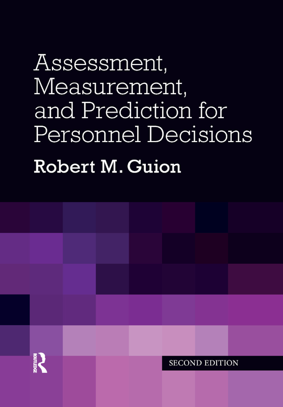 Assessment, Measurement, and Prediction for Personnel Decisions: 2nd Edition (Paperback) book cover