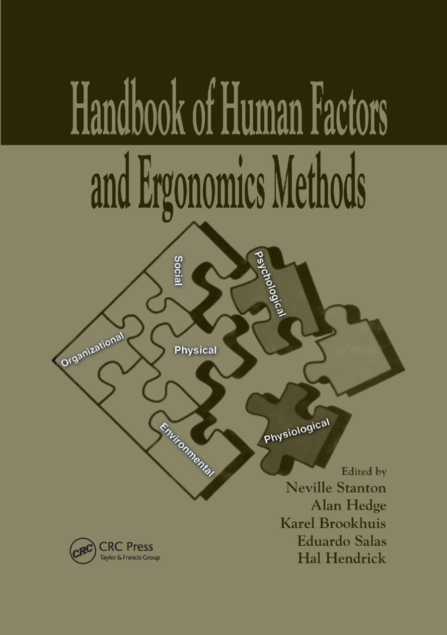 Handbook of Human Factors and Ergonomics Methods: 1st Edition (Paperback) book cover