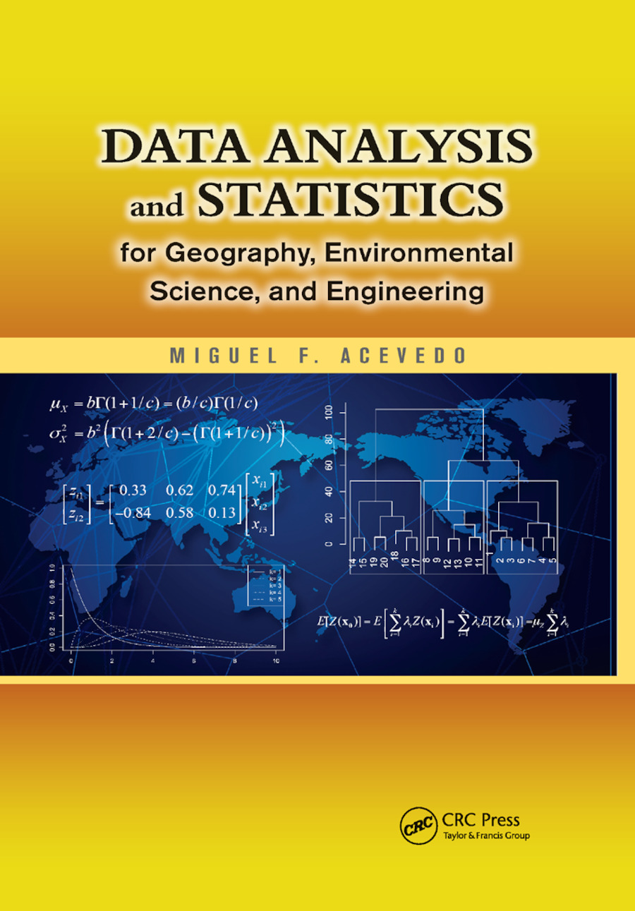 Data Analysis and Statistics for Geography, Environmental Science, and Engineering: 1st Edition (Paperback) book cover