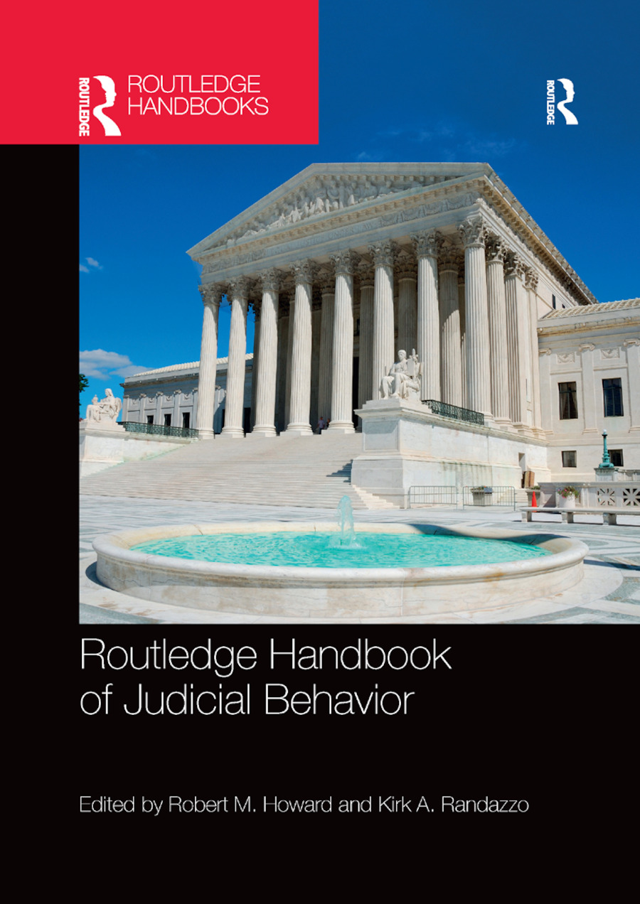 Routledge Handbook of Judicial Behavior book cover