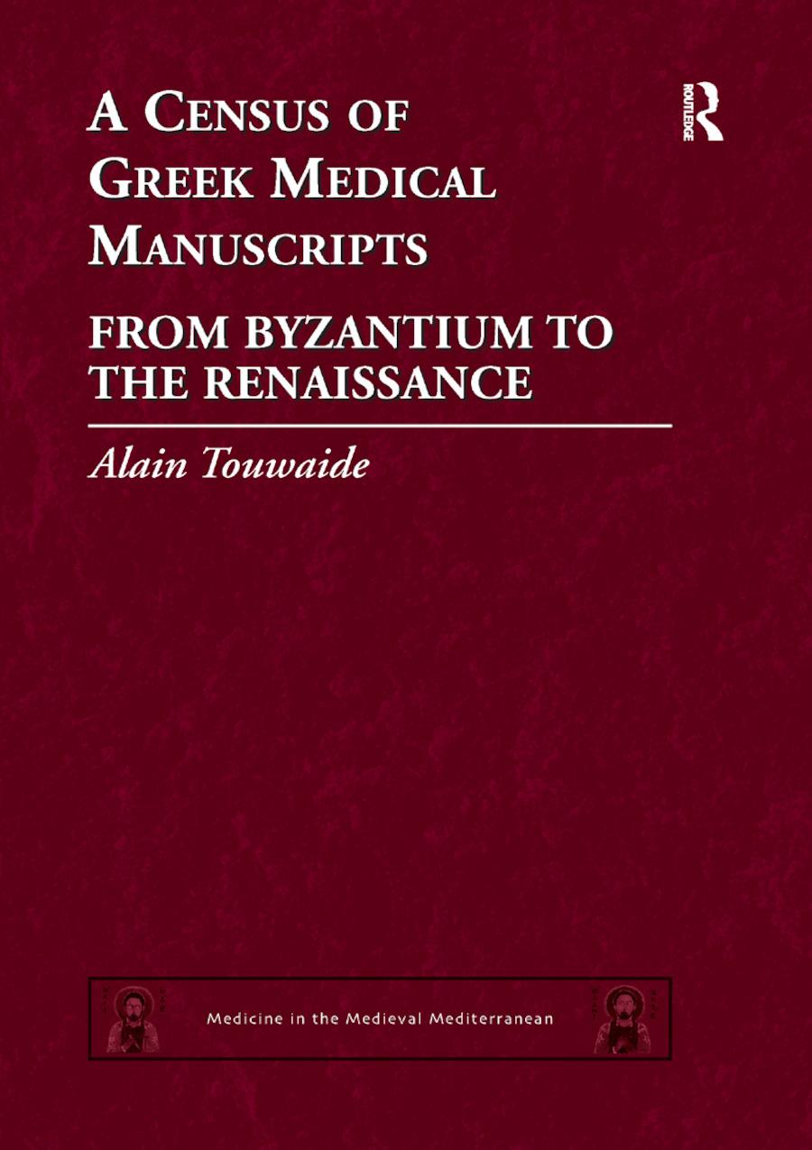A Census of Greek Medical Manuscripts