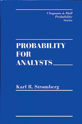 Probability For Analysts: 1st Edition (Hardback) book cover