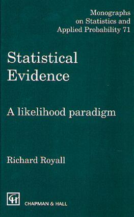 Statistical Evidence: A Likelihood Paradigm, 1st Edition (Hardback) book cover