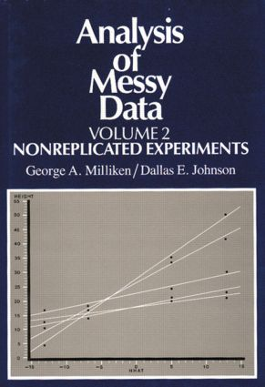 Analysis of Messy Data, Volume II: Nonreplicated Experiments, 1st Edition (Hardback) book cover