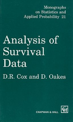 Analysis of Survival Data: 1st Edition (Hardback) book cover