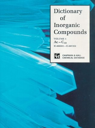 Dictionary of Inorganic Compounds: 1st Edition (Hardback) book cover