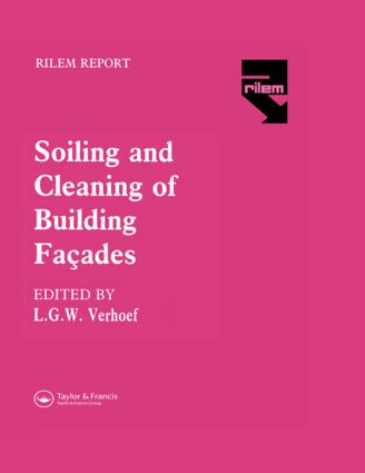 The Soiling and Cleaning of Building Facades: 1st Edition (Hardback) book cover