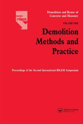 Demolition Reuse Conc Mason V1: 1st Edition (Hardback) book cover