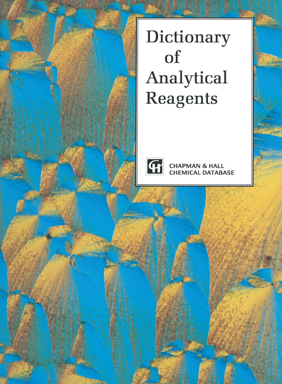 Dictionary of Analytical Reagents: 1st Edition (Hardback) book cover