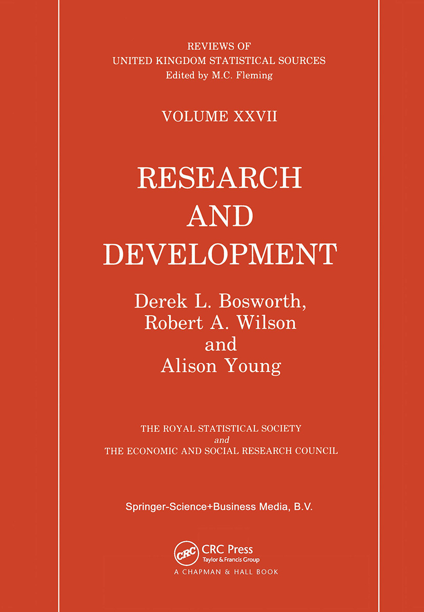 Research and Development Statistics: 1st Edition (Hardback) book cover