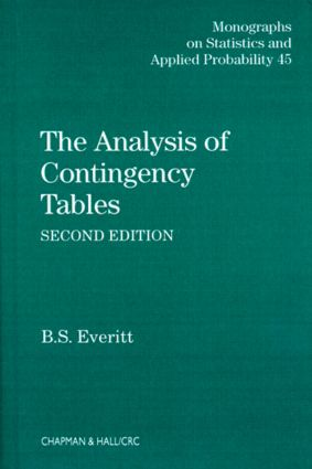 The Analysis of Contingency Tables: 2nd Edition (Hardback) book cover