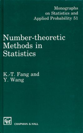 Number-Theoretic Methods in Statistics: 1st Edition (Hardback) book cover