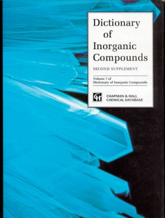 Dictionary of Inorganic Compounds, Supplement 2: 1st Edition (Hardback) book cover