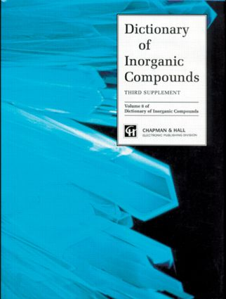 Dictionary of Inorganic Compounds, Supplement 3: 1st Edition (Hardback) book cover