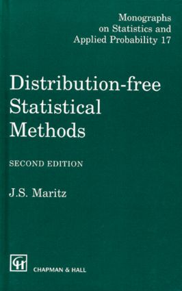 Distribution-Free Statistical Methods, Second Edition: 2nd Edition (Hardback) book cover