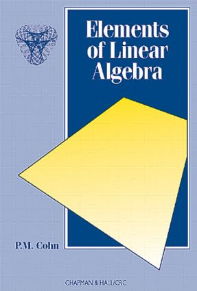Elements of Linear Algebra: 1st Edition (Paperback) book cover