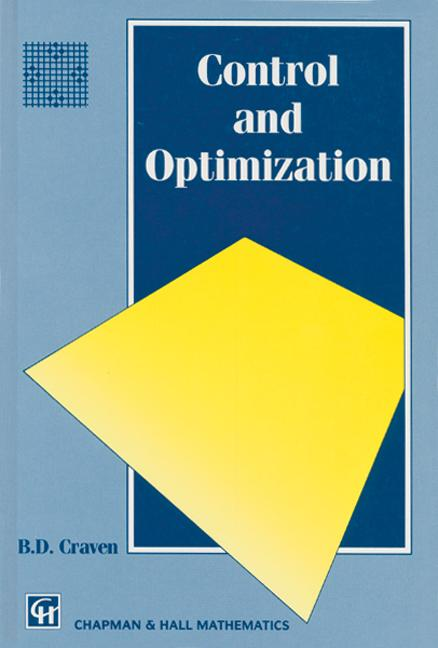 Control and Optimization: 1st Edition (Hardback) book cover