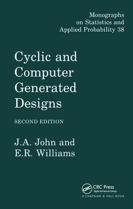 Cyclic and Computer Generated Designs: 2nd Edition (Hardback) book cover