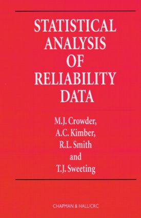 Statistical Analysis of Reliability Data (Paperback) book cover