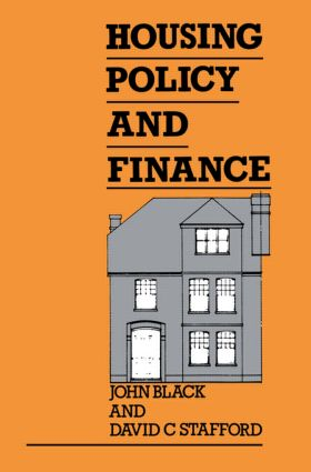 Housing Policy and Finance: 1st Edition (Hardback) book cover