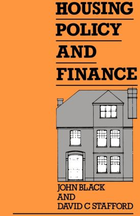 Housing Policy and Finance book cover