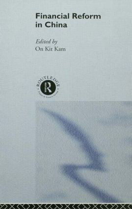 Financial Reform in China (Hardback) book cover