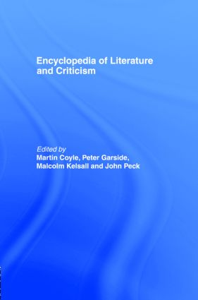 Encyclopedia of Literature and Criticism (Hardback) book cover