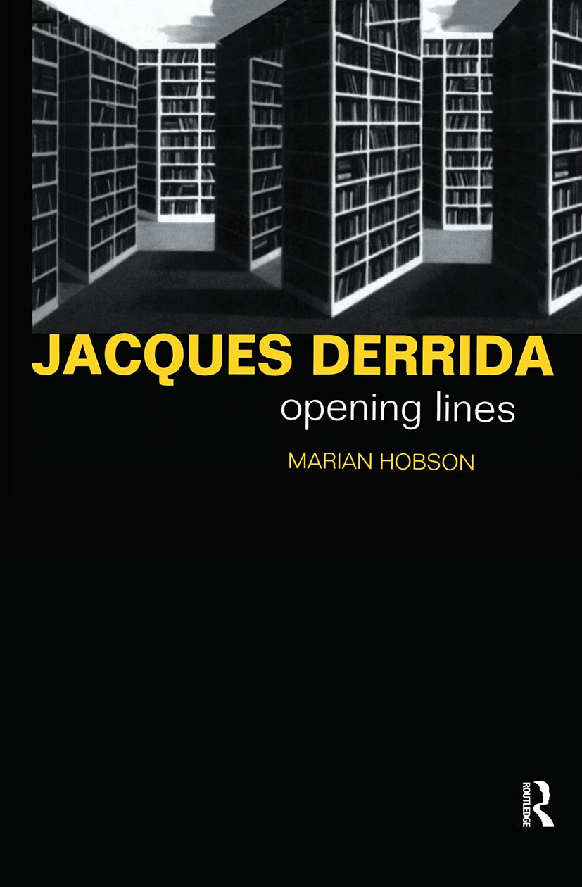 Jacques Derrida: Opening Lines, 1st Edition (Hardback) book cover