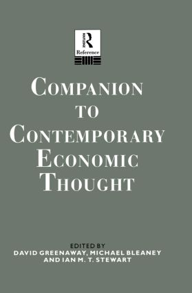 Companion to Contemporary Economic Thought (Hardback) book cover