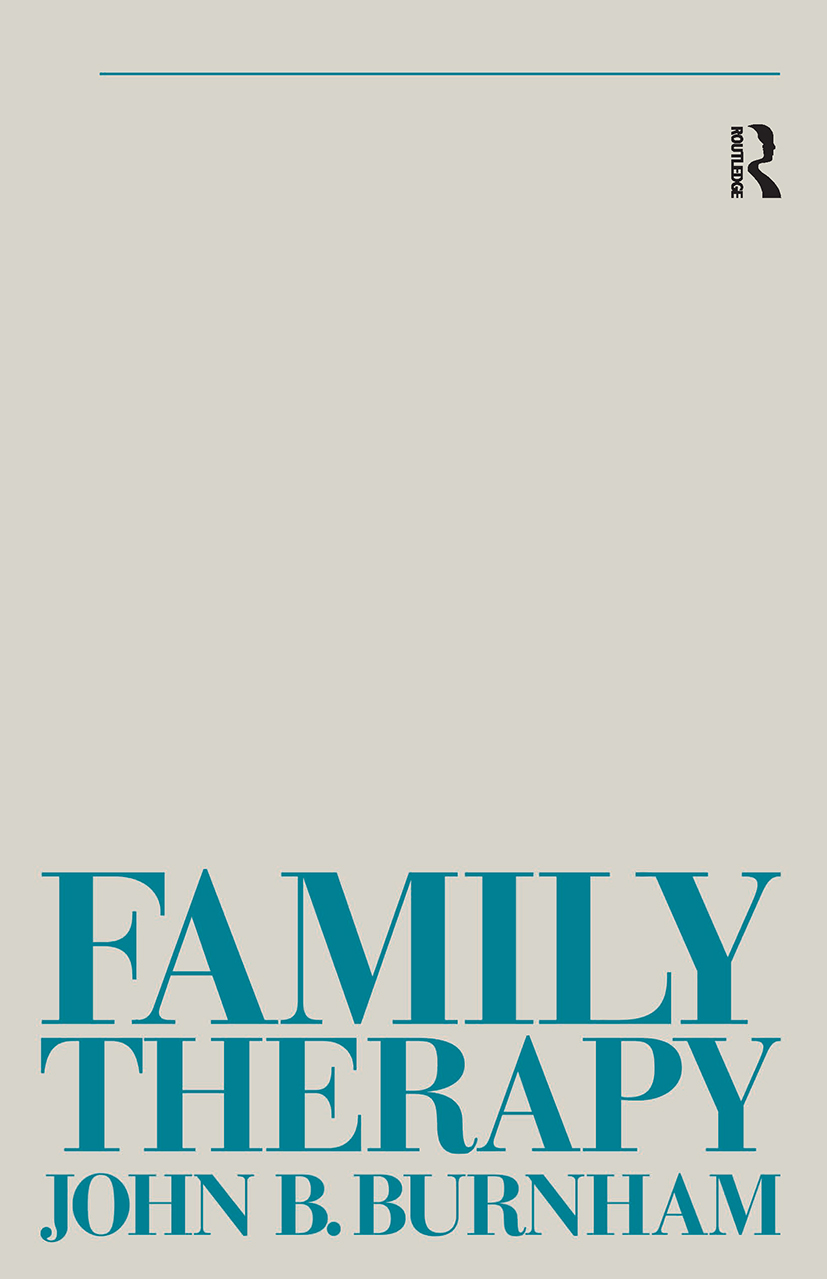 Family Therapy: First Steps Towards a Systemic Approach book cover