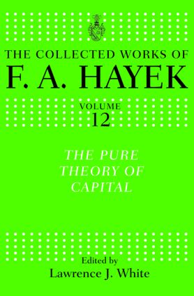 The Pure Theory of Capital (Hardback) book cover