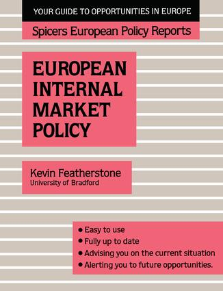 Spicers;Europ Internal Mar Pol: 1st Edition (Paperback) book cover