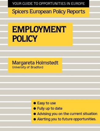 Employment Policy: 1st Edition (Paperback) book cover